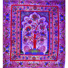 Load image into Gallery viewer, Purple Tree of Life Peacock Tapestry