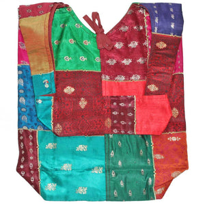 Raw Silk and Silk Embroidery Art Floral Patchwork Shoulder Bag | Wild Lotus®