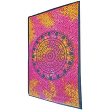 Load image into Gallery viewer, Red Chakra Star Elephant Mandala Tie Dye Tapestry | Wild Lotus® | @wildlotusbrand