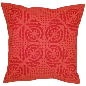 "Red Indian Cushion Cover Everyday Home Accent Furnishing - 16"" x 16"""