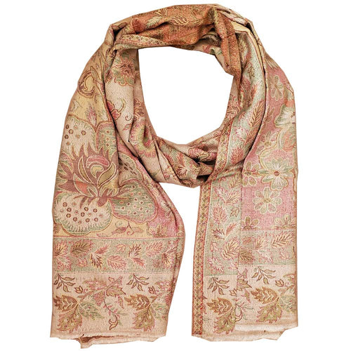 Reversible Faux Pashmina Fabric Silk Rayon Blend Floral Theme Background Design Scarf Shawl | @wildlotusbrand | Wild Lotus®