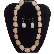 Load image into Gallery viewer, Rose Quartz Unconditional Love Heart Chakra Jewelry Necklace Set