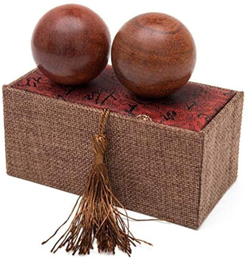 Rosewood Chinese Baoding Balls Small Home Decor Accents for Shelf | @wildlotusbrand