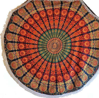 Earthy Vibes Round Mandala Tapestry