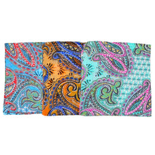 Load image into Gallery viewer, Paisley Print Pattern Cotton Scarf