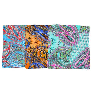 Paisley Print Pattern Cotton Scarf