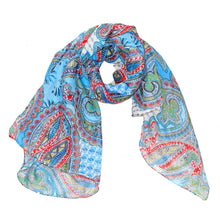 Load image into Gallery viewer, Paisley Print Pattern Cotton Scarf | Wild Lotus® | @wildlotusbrand