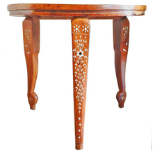Load image into Gallery viewer, Sheesham Wood  Beautiful Mandala-Boho Mini Table | @wildlotusbrand | wildlotusbrand.com