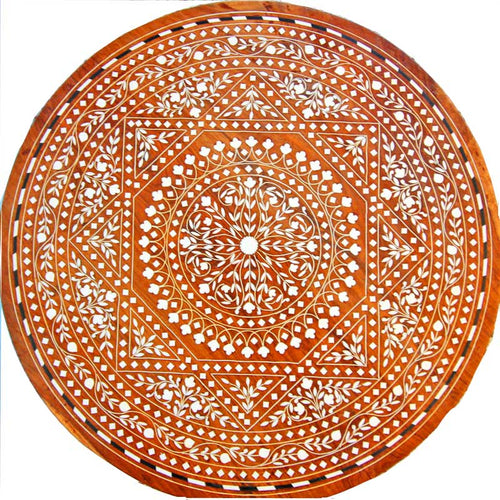 Sheesham Wood  Beautiful Mandala-Boho Mini Table | Wild Lotus®