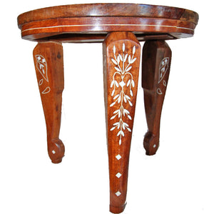 Elephant-Boho Mini Table | Wild Lotus® | Sheesham Wood Furniture