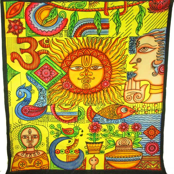 Sun Ra Blessings Tapestry