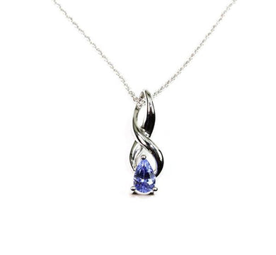 Tanzanite Infinity Necklace
