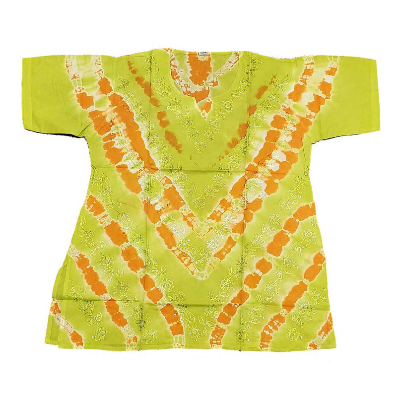 Green Aari Embroidery Design Sequin Tunic Tie Dye Top | Wild Lotus® | @wildlotusbrand