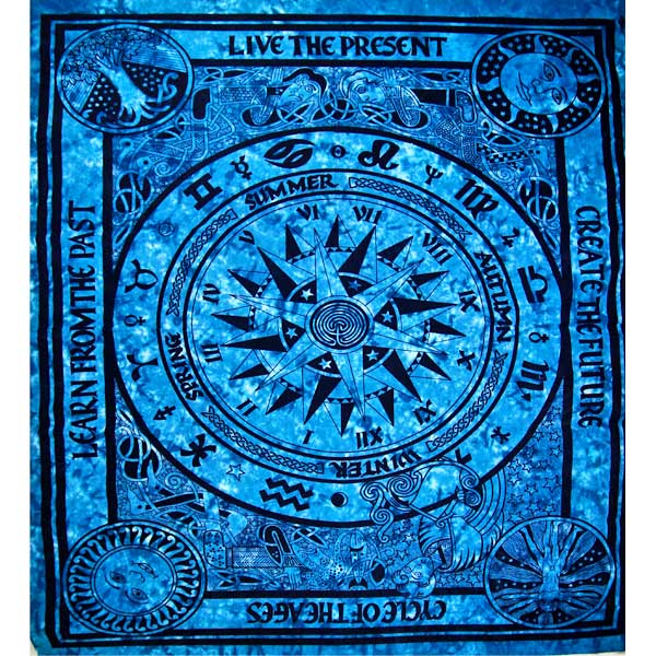 Turquoise Cycle Of The Ages Tapestry