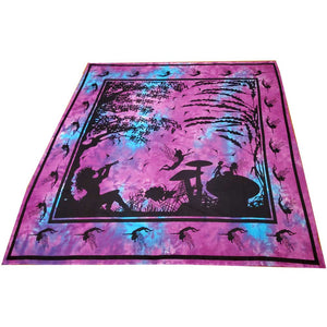 Turquoise and Pink Calling All Fairies Full Size Wall Tapestry | Wild Lotus® | @wildlotusbrand