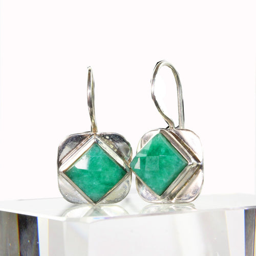 Turquoise Square Cut Hook Earrings | Wild Lotus® | @wildlotusbrand