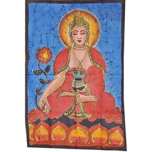 Load image into Gallery viewer, Buddha Calling the Earth to Witness Mudra Enlightenment Double Sided Banner | Wild Lotus®