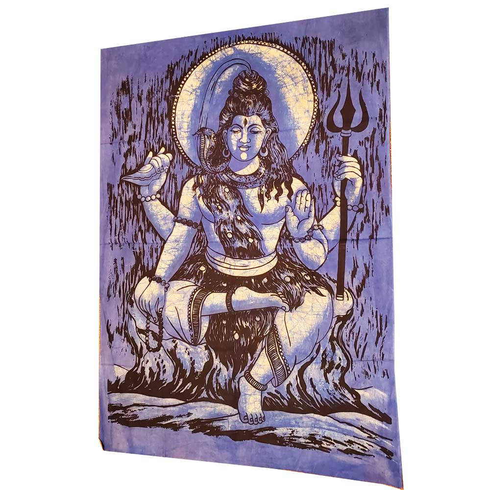 Lord Shiva Wall Decor Vintage Banner Tapestry Wall Hanging Art | Wild Lotus® | @wildlotusbrand
