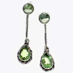 Prasiolite Splendor Earrings | Earrings | Sterling Silver Jewelry Collection | Wild Lotus