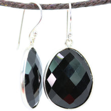 Load image into Gallery viewer, Standard Black Onyx Large Oval Earrings