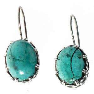 Scrollwork & Turquoise Gemstone Earrings | Sterling Silver Jewelry Collection | Wild Lotus