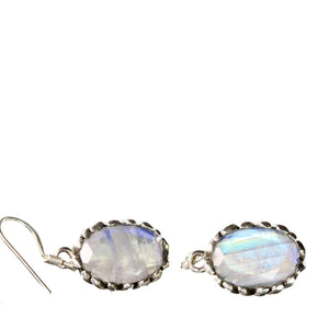 Fine Indian Divine Moonstone Dangle Earrings | Wild Lotus® | @wildlotusbrand