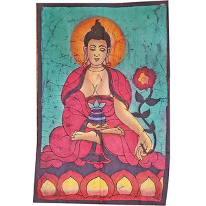 Buddha Calling the Earth to Witness Mudra Enlightenment Double Sided Banner | Wild Lotus®