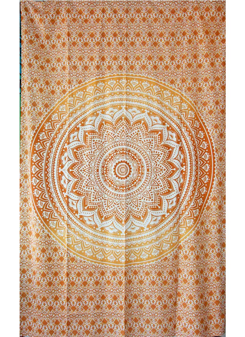 Saffron Ombre Art Pattern Cotton Tapestry Wall Hanging | Wild Lotus® | @wildlotusbrand
