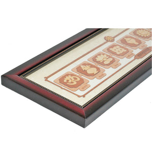 Wooden Vastu Mangal Carving Natural Wood Stain Bracket Frame | Wild Lotus® | @wildlotusbrand