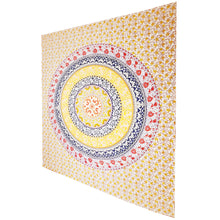 Load image into Gallery viewer, Yellow Botanical Garden Theme Wall Decoration Full Size Tapestry | Wild Lotus® | @wildlotusbrand