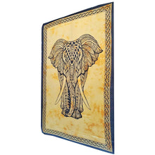 Load image into Gallery viewer, Yellow Indian Bohemian Elephant Tapestry Psychedelic Wall Hanging Decoration | Wild Lotus® | @wildlotusbrand