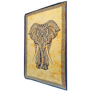Yellow Indian Bohemian Elephant Tapestry Psychedelic Wall Hanging Decoration | Wild Lotus® | @wildlotusbrand