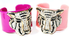 Load image into Gallery viewer, Purple & Pink Tiger Glitz Cuff Bangles