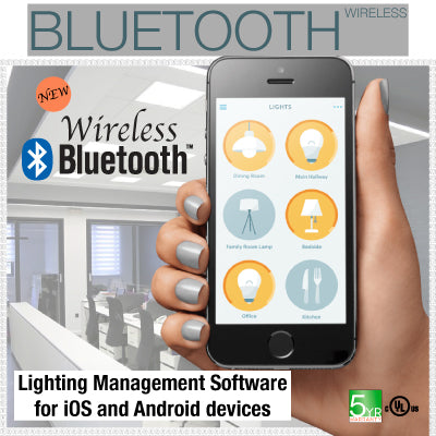 Bluetooth control LED panel light