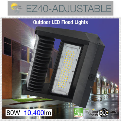 New EZ40 beam direction adjustable flood light