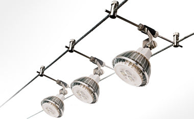 led star cable lighting kits 12v light fixtures suspended between dual