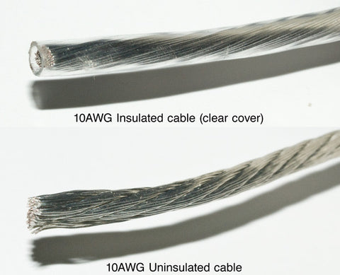 Insulated Cable (Clear Cover, 10AWG)
