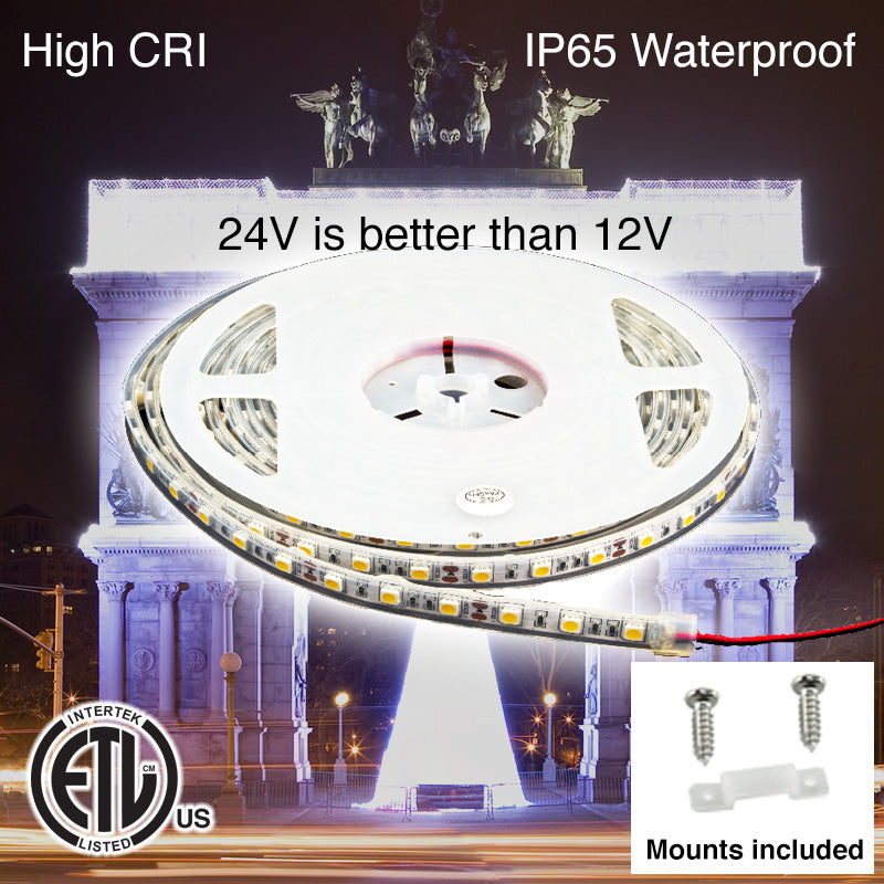 Amazon Waterproof LED Strip Light with Mounts & Screws (24 Volt)