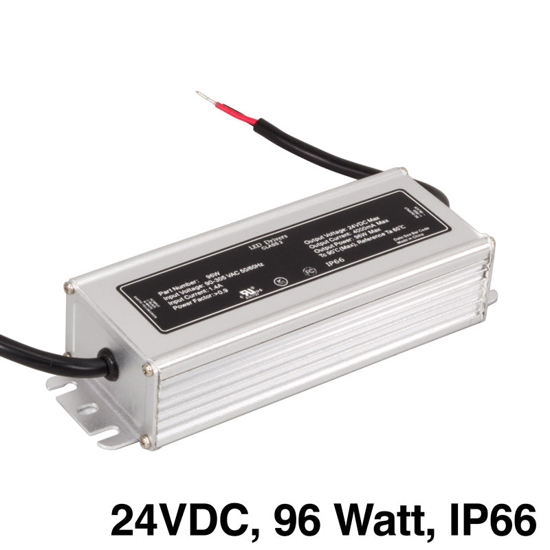 IP66 Waterproof LED Driver Power Supply (24V DC, 96 Watt, non-dimmable)