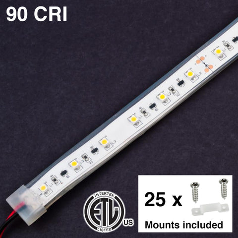 Mississippi High CRI Waterproof LED Strip Light with Mounts & Screws (24 Volt)