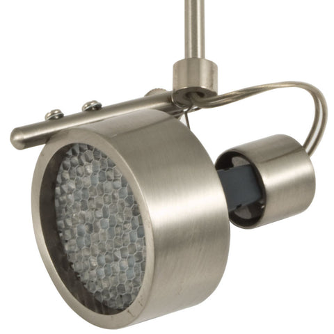 Omega Satin Nickel Flex II LED Track Lighting Kit with Louver