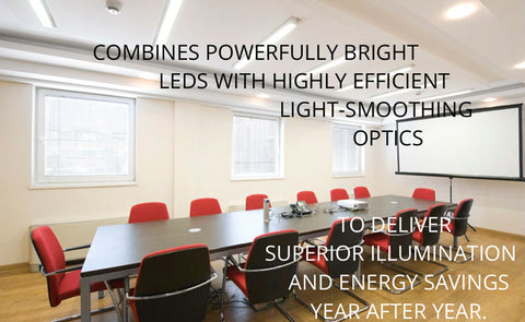 Streamline LED Linear Lights installed in an office