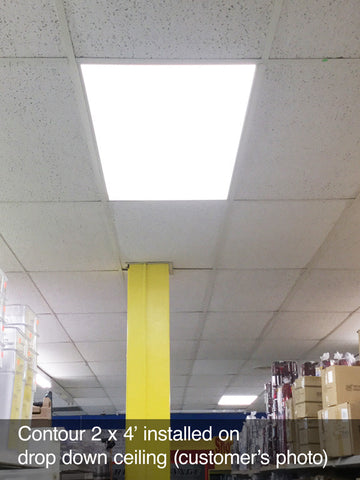 Contour Ultra Thin Side-Lit LED Panel Light (drop ceiling installation)