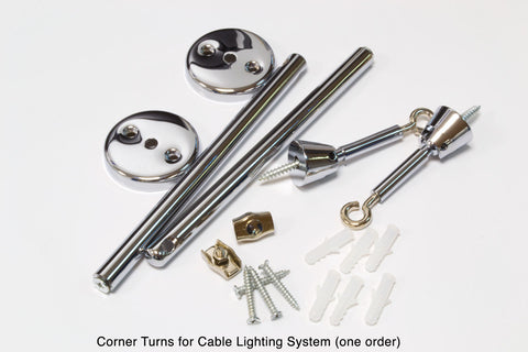 Corner Turns for Cable Lighting System