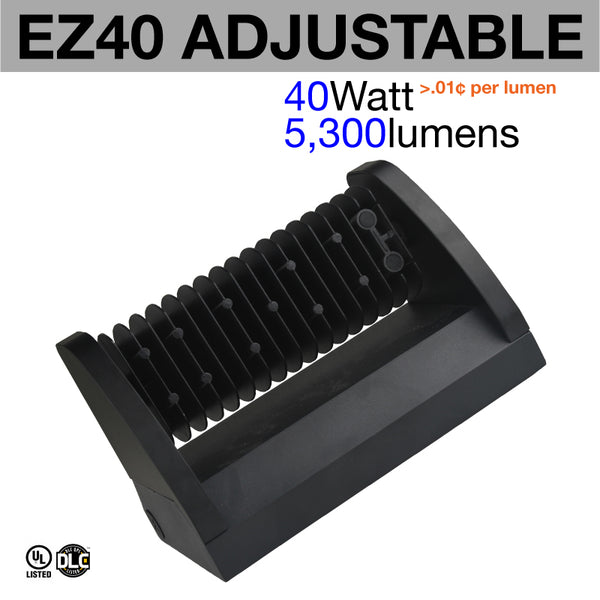 Owl Outdoor Led Wall Pack: EZ40 Adjustable Tilt Head LED Wall Pack (weather Proof