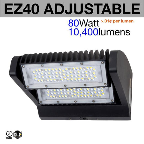 EZ40 Adjustable Tilt Head LED Wall Pack (weather proof)