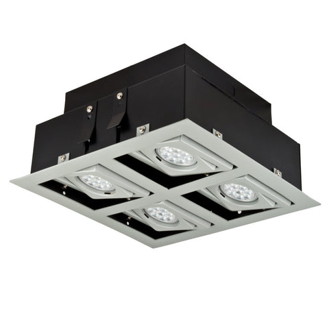 LED BETA STUDIO Recessed Light Unit (Matte gray finish 2x2)