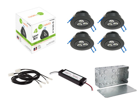 MIDTOWN 2.0 LED Recessed Dimmable Kit (Black)