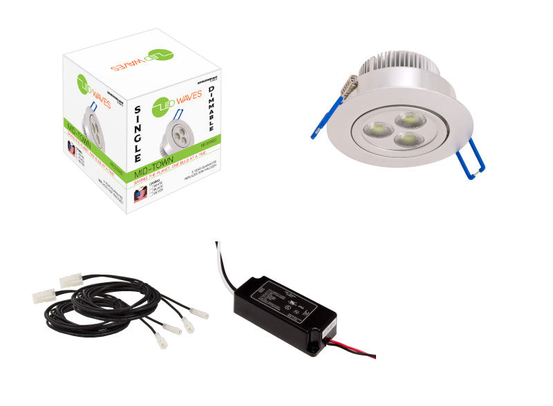 Midtown Led Recessed Light Silver With A Dimmable Driver