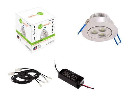 MIDTOWN LED Recessed Light (Silver) with a dimmable LED Driver